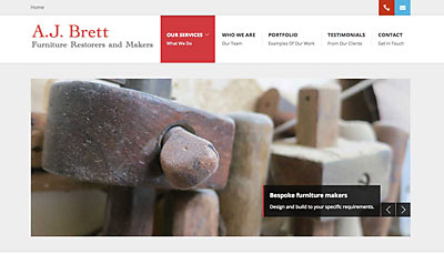 Website Design A.J. Brett Furniture