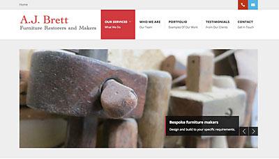 Website Design A.J. Brett Furniture