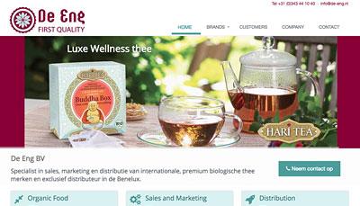 Website Design De Eng Organic Tea