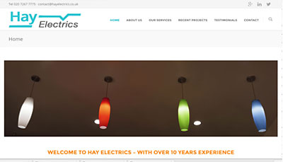 Website Design HAY Electrics