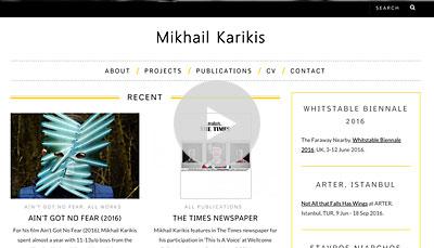 WordPress Design Mikhail Karikis