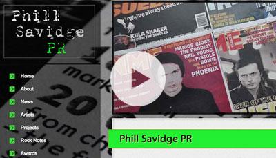 Website Design Phill Savidge
