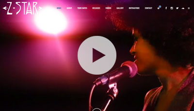 Website Design Z-Star Music