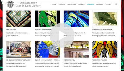 Website Design Amsterdamse Glas in Lood Zetterij