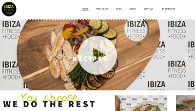 Website Design Ibiza Fitness Food