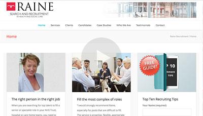 Website Design Raine Recruitment