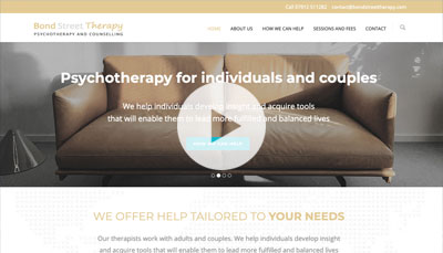 Website Design Bond Street Therapy