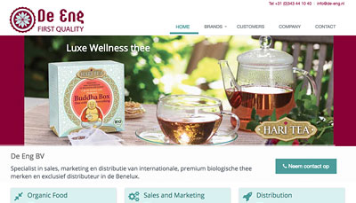 Website Design De Eng Organic Tea