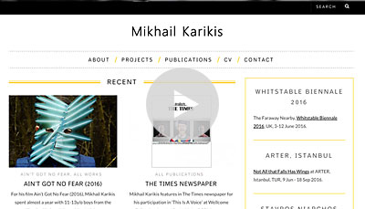 WordPress Design Mikhail Karikis