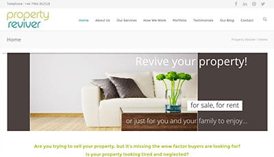 Website Design Property Reviver