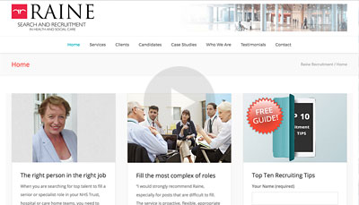 Website Design Raine Recruitment